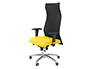 CHAISE DIRECTION Q-CONNECT TOILE BASE METAL MAXIMUM      SUPPORTE 100KG DIM.           1210X30X630MM COLORIS JAUNE