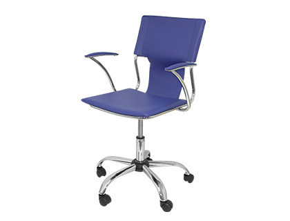 CHAISE BUREAU Q-CONNECT ROTATIVE MAXIMUM SUPPORTE     100KG DIM. 860X480X440MM      SIMILI CUIR COLORIS BLEU