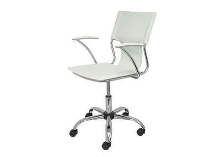 CHAISE BUREAU Q-CONNECT ROTATIVE MAXIMUM SUPPORTE     100KG DIM. 860X480X440MM      SIMILI CUIR COLORIS BLANC