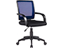 CHAISE BUREAU Q-CONNECT ROTATIVE BASE NYLON MAILLE    MAXIMUM SUPPORTE 120KG        900+100X560X570MM COLORIS BLEU
