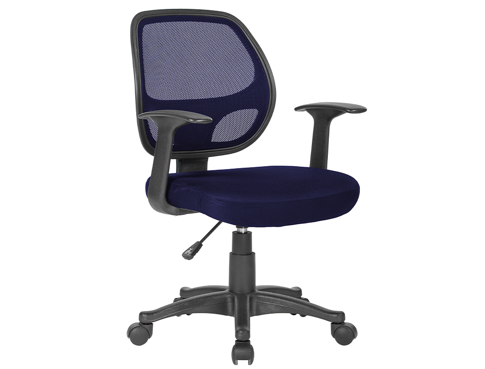 CHAISE BUREAU Q-CONNECT ROTATIVE BASE NYLON MAILLE    MAXIMUM SUPPORTE 120KG        870+120X550X590MM COLORIS BLEU