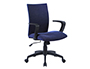 CHAISE BUREAU Q-CONNECT ROTATIVE BASE METAL TISSU     MAXIMUM SUPPORTE 130KG        895+110X550X580MM COLORIS BLEU