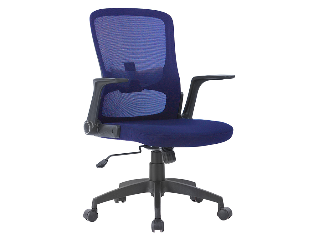 CHAISE BUREAU Q-CONNECT ROTATIVE BASE NYLON MAILLE    MAXIMUM SUPPORTE 130KG        910+75X550X610MM COLORIS BLEU
