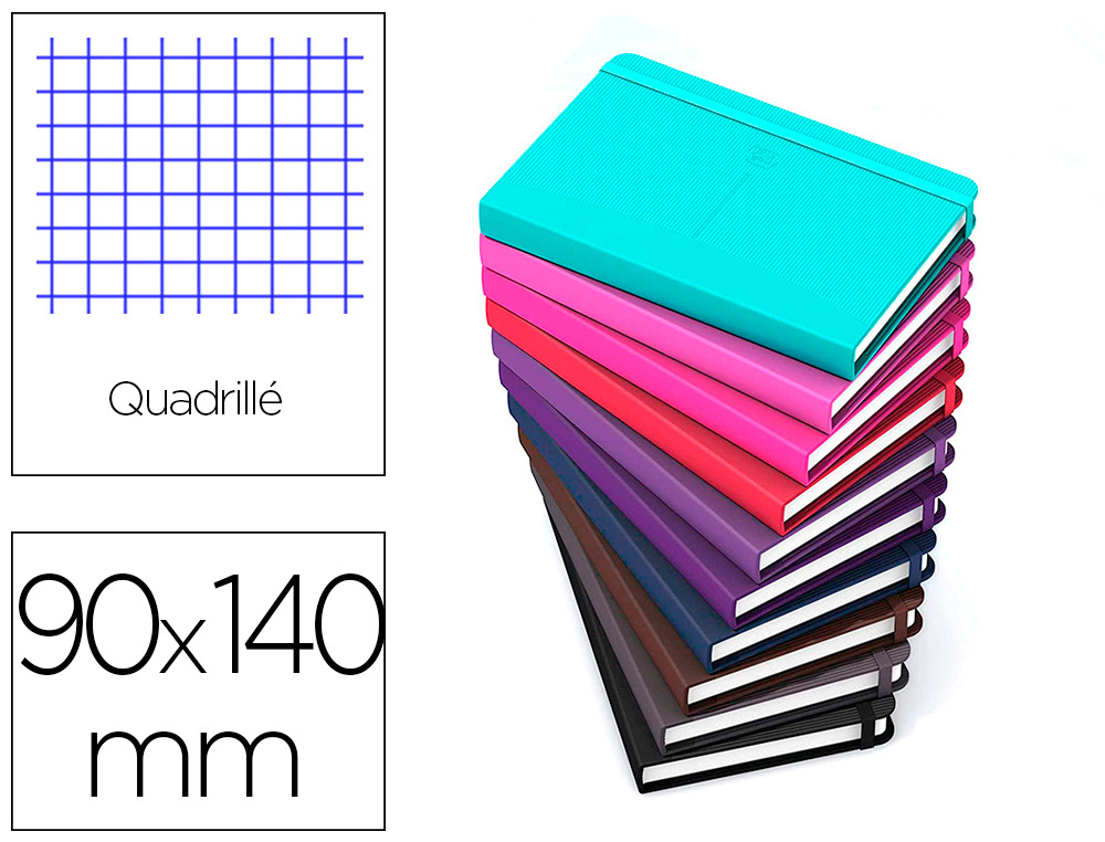 CARNET OXFORD OFFICE SIGNATURE BROCHURE DIMENSION  90X140MM 160 PAGES 90G Q5     ASSORTI 10 COULEURS