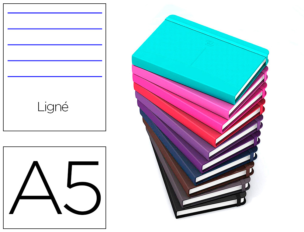 CARNET OXFORD OFFICE SIGNATURE BROCHURE DIMENSION  A5 160 PAGES 90G L6 ASSORTI   10 COULEURS
