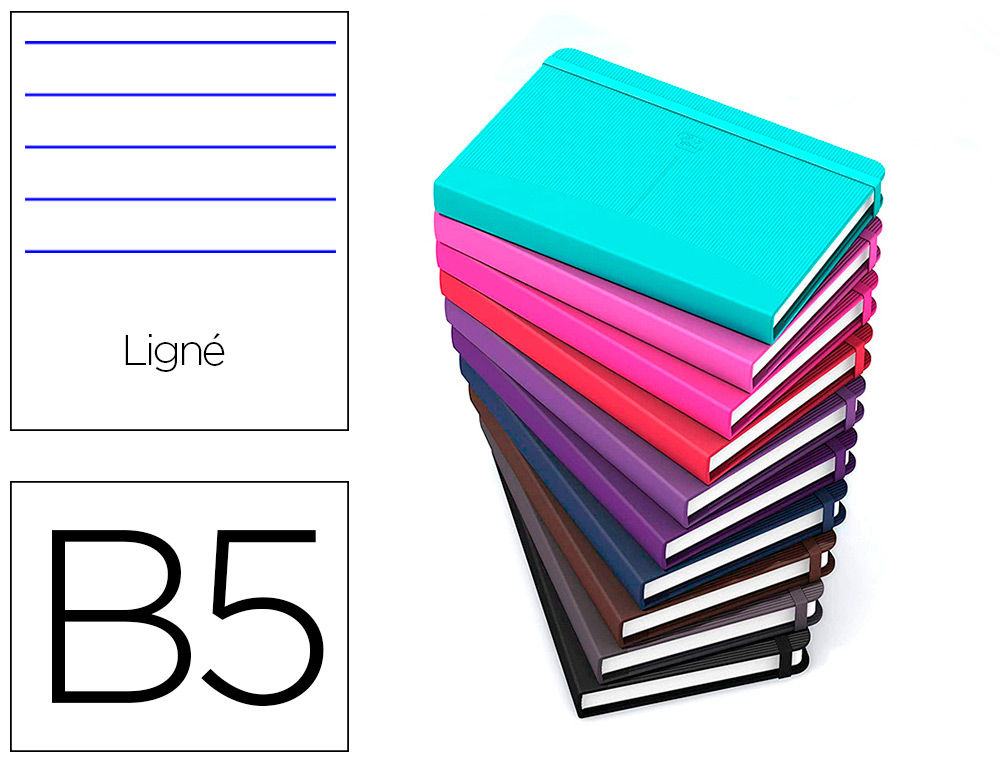 CARNET OXFORD OFFICE SIGNATURE BROCHURE DIMENSION  B5 160 PAGES 90G L6 ASSORTI   10 COULEURS