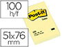 BLOC-NOTES POST-IT 656 51X76MM 100F/BLOC REPOSITIONNABLES COLORIS JAUNE      656-CY
