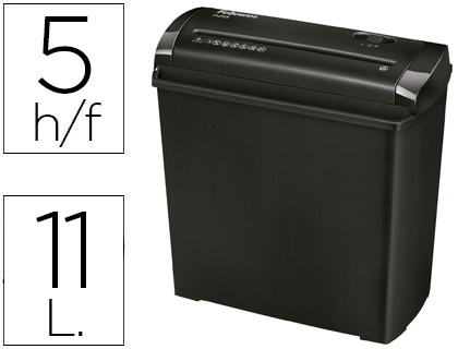 DESTRUCTEUR FELLOWES P25S 11L OCCASIONNEL STANDARD VITESSE 2.5MIN A4 COUPE DROITE 7MM 11L 286X153X299MM 1.63KG