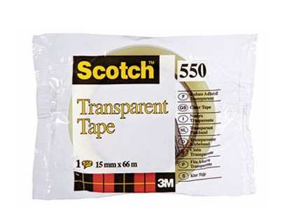 RUBAN ADHÉSIF SCOTCH TRANSPARENT RÉSISTANT 15MMX66M SACHET