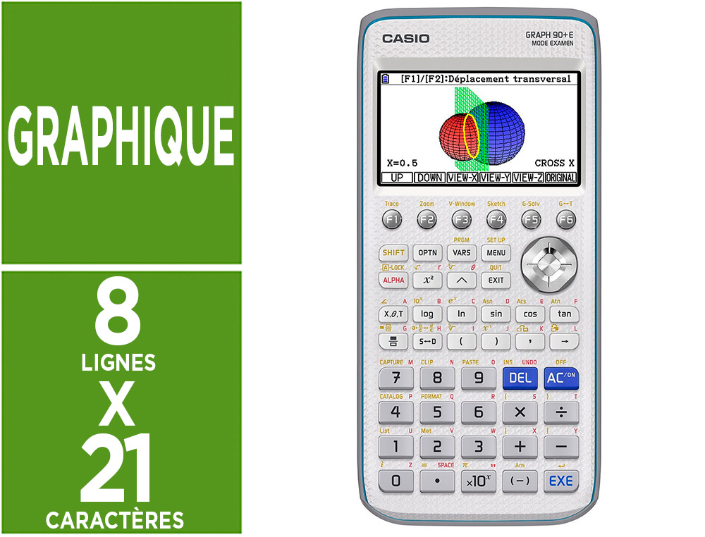 CALCULATRICE CASIO GRAPH 90+E PYTHON INTEGRE ECRAN LCD      COULEUR 8 LIGNES GRAPH 3D     TABLEUR STAT VECTEUR