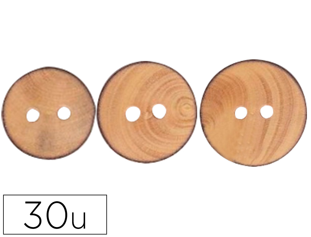 BOUTON EN BOIS FONTORPIN NATUREL A DECORER MIX 3       DIAMETRES 12MM 18MM 22MM      DIAMETRE ASSORTIES 30 UNITES