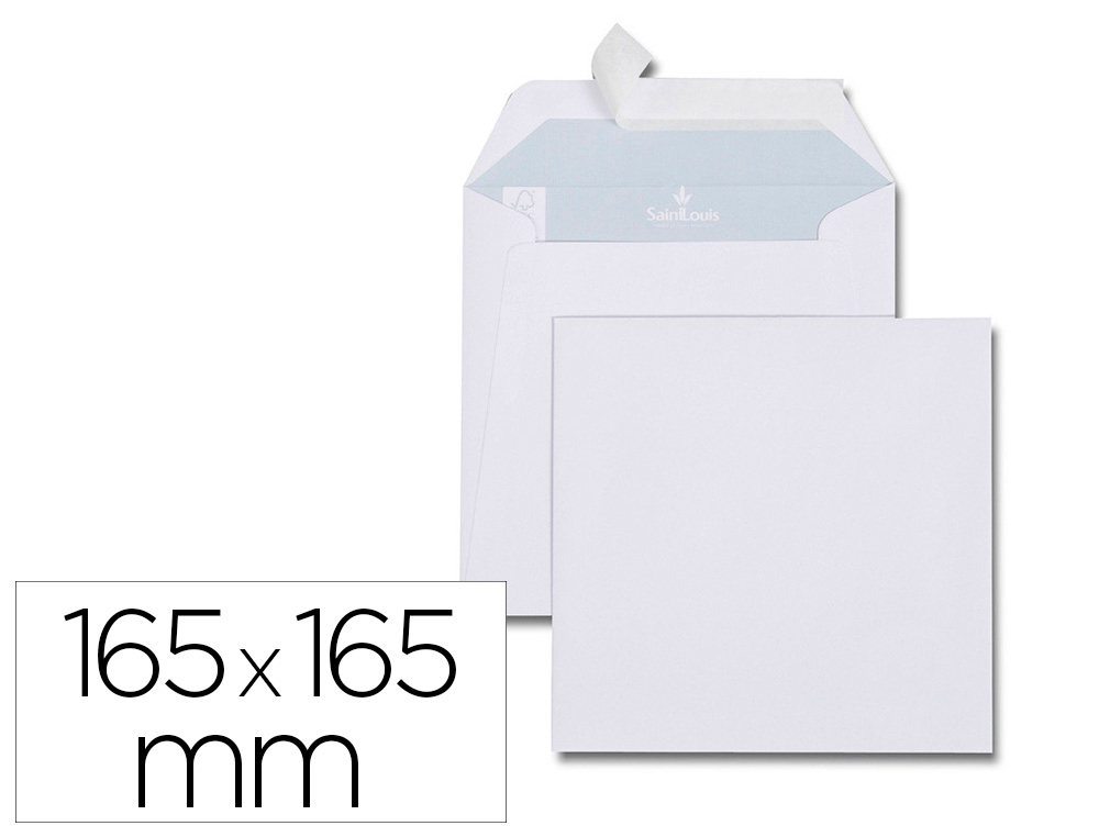 ENVELOPPE BLANCHE GPV CARREE PAPIER OFFSET 120G 165X165MM BANDE DE PROTECTION IDEALE INVITATIONS FAIRE-PART VOEUX
